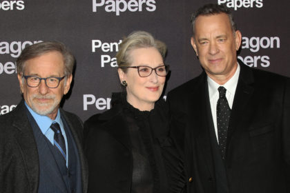 Steven Spielberg, Tom Hanks, Meryl StreepPhoto by Nick Sined*