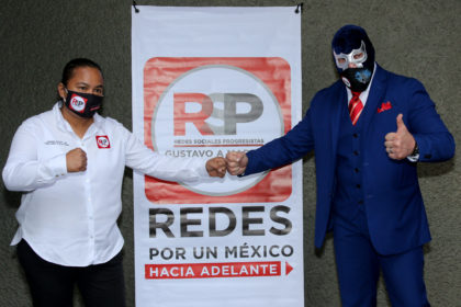 Dominga Escobar Luis, Blue Demon Jr